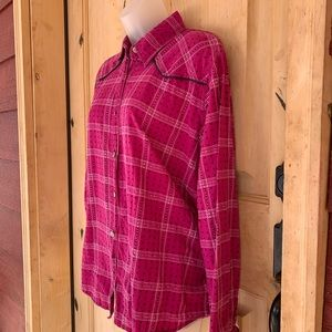 Cute Adobe Rose Button Down Western Top